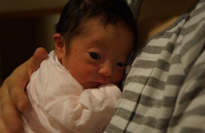 パパの育児@2日目:産後24時間程度・・・子供がオドオドしています。