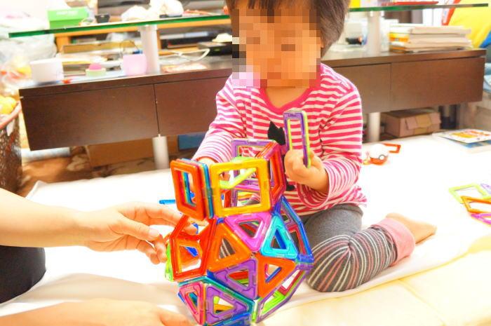パパの育児@生後724日目:マグ・フォーマーで遊ぶのです